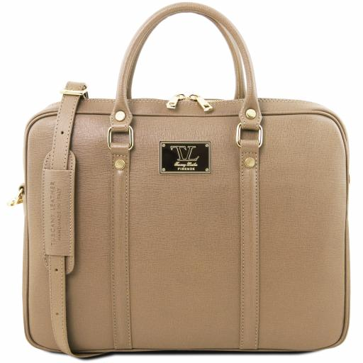 Prato Exclusive Saffiano leather laptop case