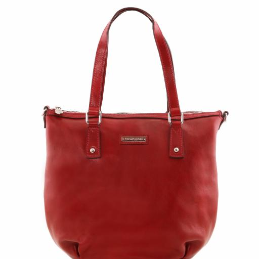 Olga Leather shopping bag - Large size