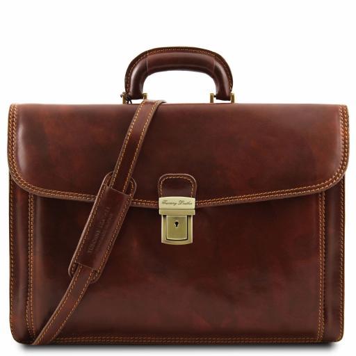 Napoli Leather briefcase 2 compartments