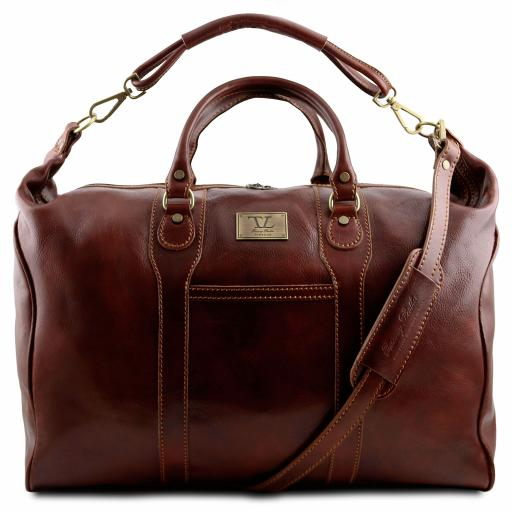Amsterdam Travel leather weekender bag