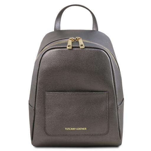 TL Bag Small Saffiano leather backpack for women