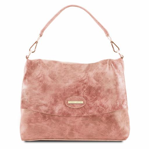 TL Bag Aged effect leather handbag