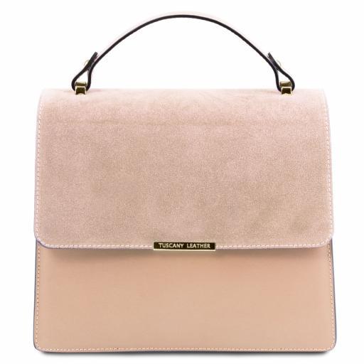 Irene Leather handbag with chain strap