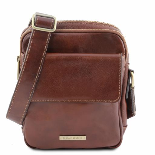 Larry Leather Crossbody Bag