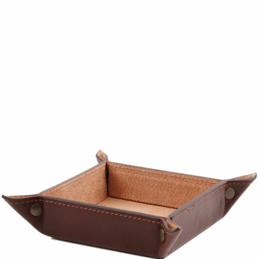 Exclusive leather valet tray small size
