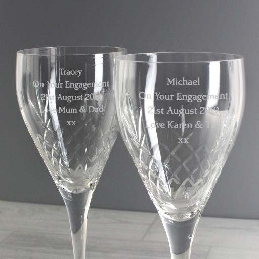 Personalised Crystal Wine Glasses