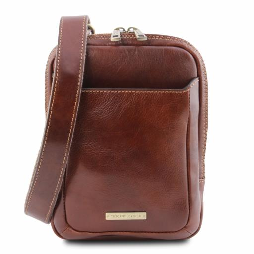 Mark Leather Crossbody Bag