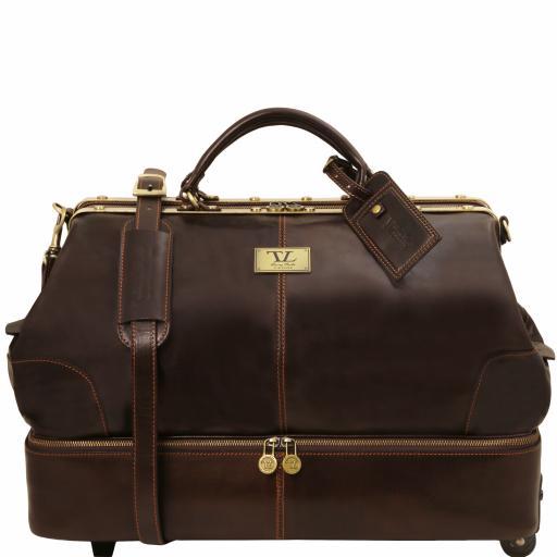 Siviglia Two wheeles double-bottom Gladstone leather bag