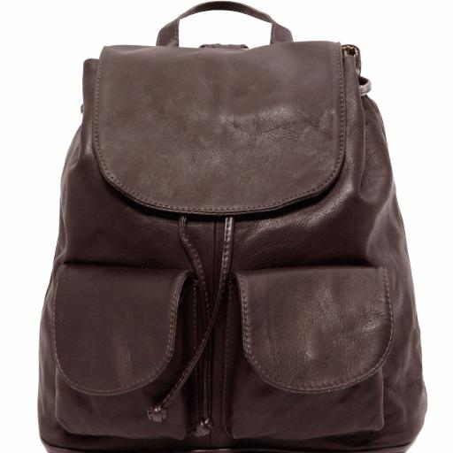 Seoul Leather backpack Large size