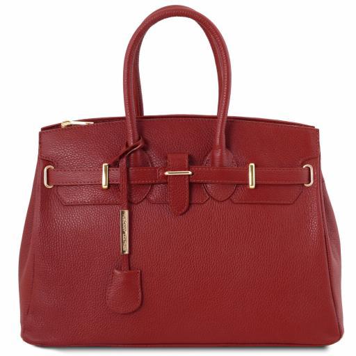 TL Bag Leather handbag with golden hardware