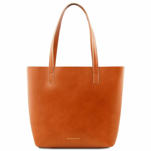 Ilaria Leather bag with removable main inside compartment