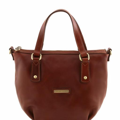 Olga Leather shopping bag