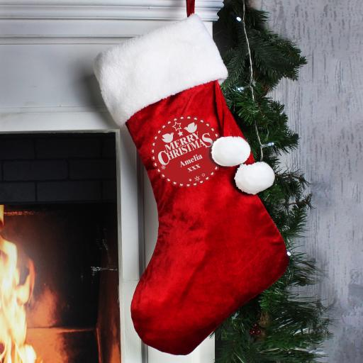 Christmas Wishes Personalised Stocking