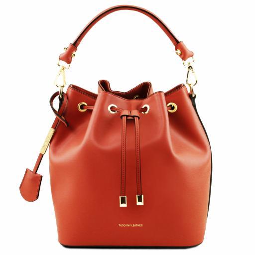 Vittoria Leather secchiello bag