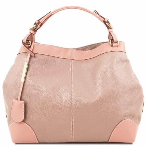 Ambrosia Soft leather shopping bag with shoulder strap