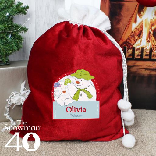 The Snowman and the Snowdog Personalised Sack