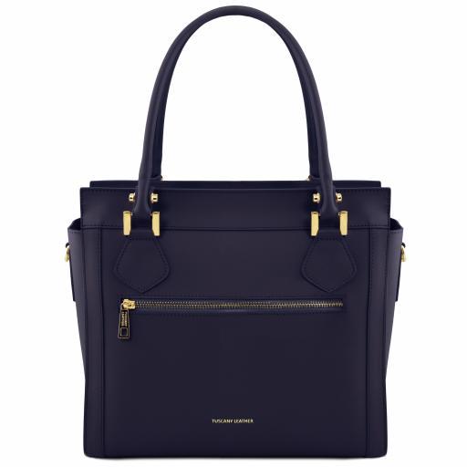 Lara Leather handbag with front zip