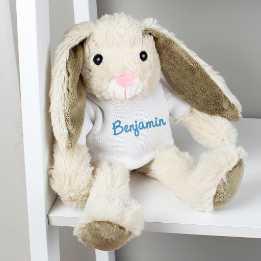 Personalised Bunny with Blue Name