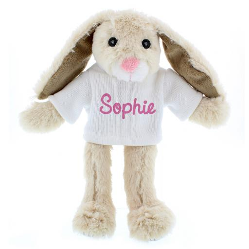 Personalised Bunny with Pink Name